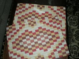 2 Padded Checked Pattern Table Place Mats