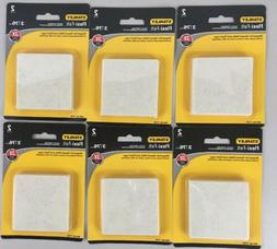 3 Inch Square Felt Pads Oatmeal Pack Of 2