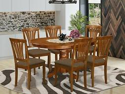 7pc Avon 42x60 oval dinette kitchen dining table w/ 6 padded