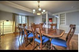 Ethan Allen Abbott  Dining Room Table, 8 Dorsey Chairs plus