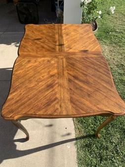 Antique Dining Table with Leaves & Padded Cover