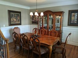 british gentry buffet table 8 chairs 2