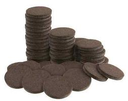 New Brown Round 1 Inch 48 Pack Felt Pads Furniture Chairs Ta
