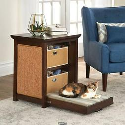 Cats Murphy Bed integrated pull-down bed side table built-in