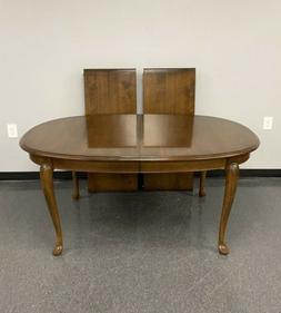 Ethan Allen Classic Manor Maple Queen Anne Dining Table Cust