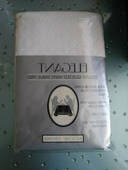 """Elegant Deluxe Quilted Vinyl Table Pad 60 """" X 168""""  Oblong"""