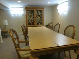 """Drexel Heritage Dining Room 98""""  Table 6 CHAIRS w/2 Leaves w"""