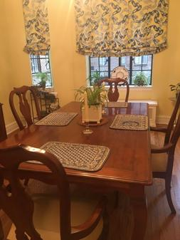 Ethan Allen Dining Table, 6 chairs, Matching China Cabinet,