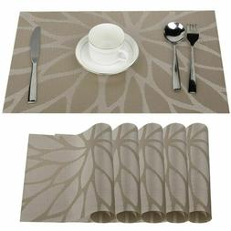 Dining Table Coasters Pads Set Non-slip Kitchen Cloth Placem