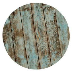 Elastic Protective Fitted Round Tablecover Table Pad ~Rustic
