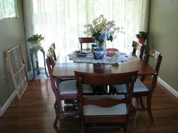 Formal Cherry Dining Room Set Table Chairs, China cabinet, s