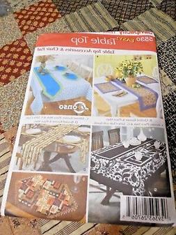 NEW Simplicity Pattern #5530 Table Top Accessories, Chair Pa