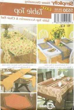 Pattern Simplicity Sewing Decor Table Top Accessories and Ch