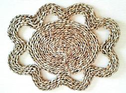 Handmade Place mat Table ware basketry natural Dining Heat P