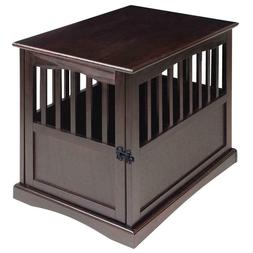 Newport Pet Crate End Table Dog Cat Kennel House Cage Indoor