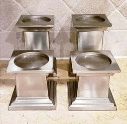 Stainless Steel / Brushed Steel /  Table Candle Holder / Set