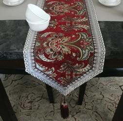 """Table Runner Thick and Heavy with Anti Skid Padding 13"""" x 10"""