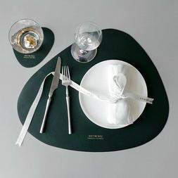 Tableware Pad Placemat  Mat PU Leather Heat Insulation Non-S