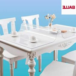 Transparent PVC Table Cover Tablecloth Rectangle Protector D