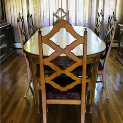 Vintage Thomasville Dining Table With Six Chairs And Table P