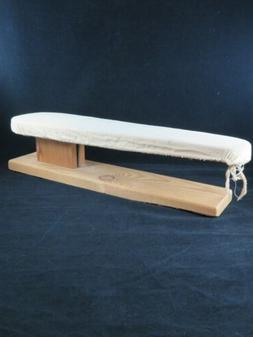 Vintage Wooden Counter Top Small Ironing Board with Beige Co
